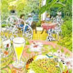夢の島熱帯植物館。大きなガラスのドームの中は熱帯の植物がいっぱい。
