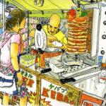 川越の祭り。お店のトルコ人とアジア系のお客さんが、片言の日本語でコミュニケーション。