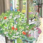 春の三菱一号館。花屋さんの店先の花が春の光を浴びてきらきら輝いていた。重厚なドアに掛けられたイチゴのリース。思わずイチゴに触れてみる。うぶ毛が指先にくすぐったい。もうすぐ春。 Marunouchi BRICK SQUARE