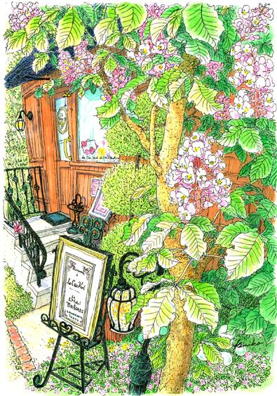 神楽坂の細い坂道を通ってアグネスホテルの横に出る。パティスリーには何度か来たのに、こんな綺麗な花が咲く木に初めて気がつきました。どこかで見たことがある花・・ストックホルムで真っ白な花が満開だったマロニエでした。Le Coin Vert