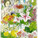 一日一枚のスケッチを自分に課していた頃。渋谷駅で乗り換えようとしたら、目の前に花屋さん。百合の花から一気にスケッチ。