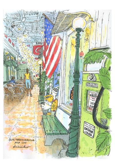 ミュージアム&ミュージアムの一角に足を踏み入れるとまるでアメリカのどこか古びた町にタイムスリップしたよう。アクアシティお台場LONGBOARD CAFE