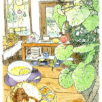 天然酵母のベーカリーカフェ。パンの匂いに包まれながらスケッチ。木の温もりにほっとする小さなお店。CAFE TERVE !